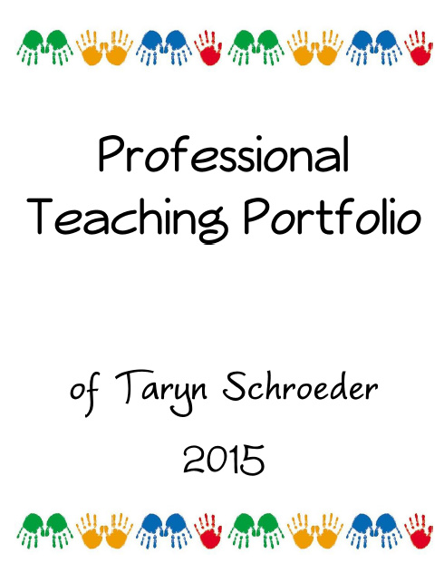 Techy teacher portfolio cover page for Professional teaching portfolio template